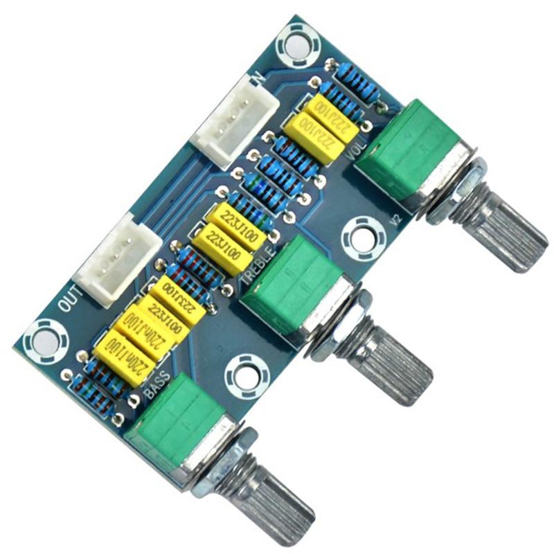 FULL-Tube Amplifiers Audio Amplificador Preamp Tone Board Hifi Bass Treble Volume Control Board 3-Channel Subwoofer 2.1 Amplif