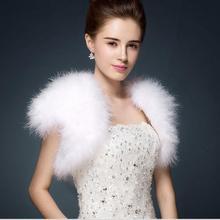 Gilet Vintage en plumes de plumes   Étole, en plumes, Marabou, accessoires de mariée, robe de soirée S69