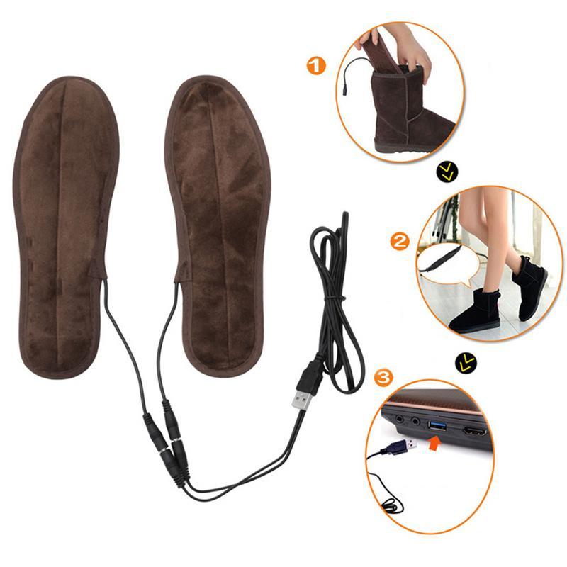 Palmilhas aquecidas usb pé mais quente palmilhas inverno esportes ao ar livre esqui palmilhas de aquecimento manter quente para homens sapatos femininos