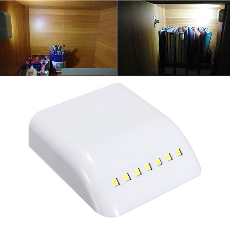 12V Cabin Lamp Practical 7 LED Induction Intelligent Cabinet Wardrobe Battery Lights Door Auto-switch Sensor LED Cabinet Light