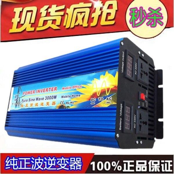 Inversor sinus omvormer 3000w onda sinusoidal pura potencia máxima 6000w cc 12 V/24 V/48 V a AC110V/220 V uso doméstico