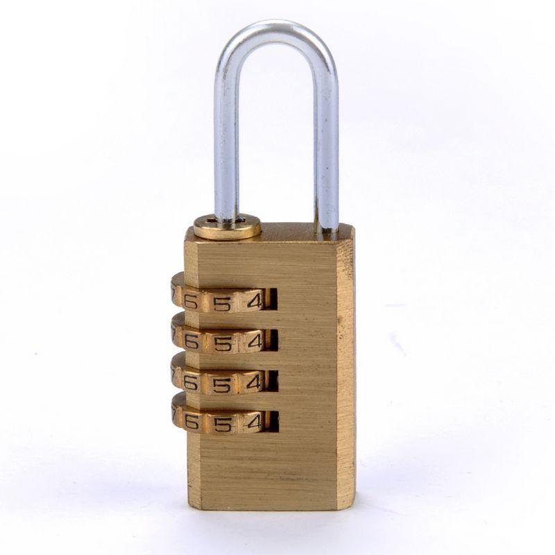 1 Uds Mini 4 número de dígitos candado de combinación de código de contraseña reiniciable