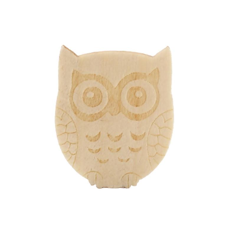"DoreenBeads adornos de madera Natural álbum de recortes DIY madera arte búho Animal niños regalo adornos 24mm (1 "") x 20mm (6/8"") 50 Uds"