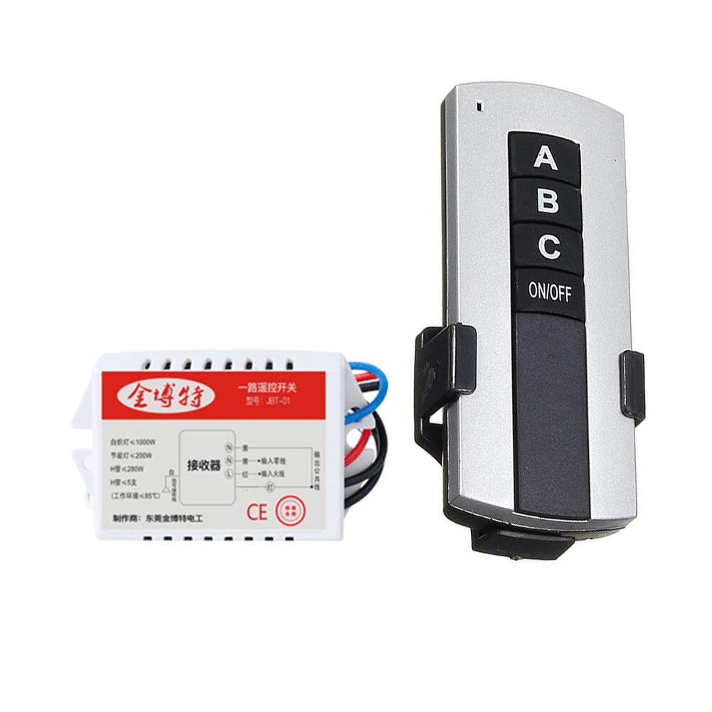 Lámpara LED inalámbrica de techo de 200V-240V interruptores de relé de encendido/apagado receptor de 1/2/3 vías interruptor remoto