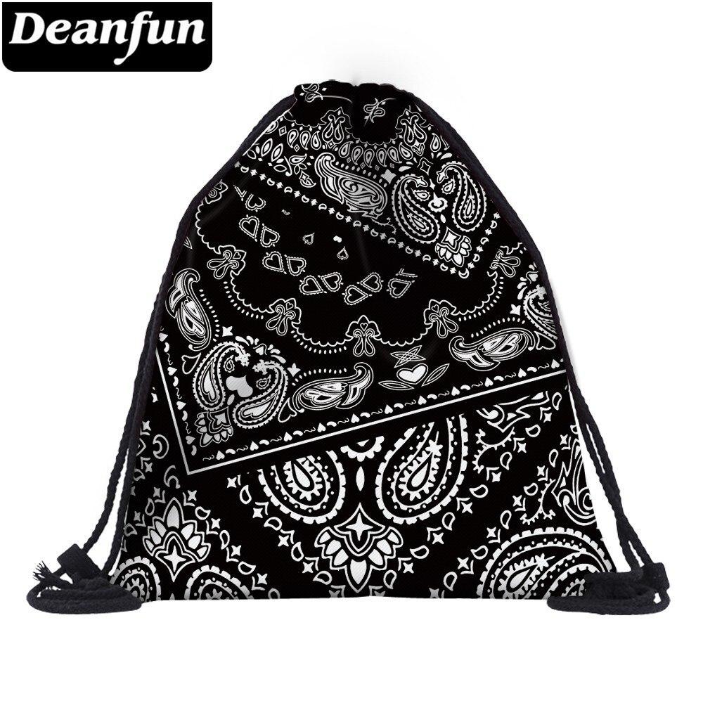 deanfun drawstring bag hot selling 3d printing softback man woman backpacks s89 Deanfun Women Fashion 3D Printing Drawstring Bag Backpack Travel Softback Mens Backpacks Bags  25389