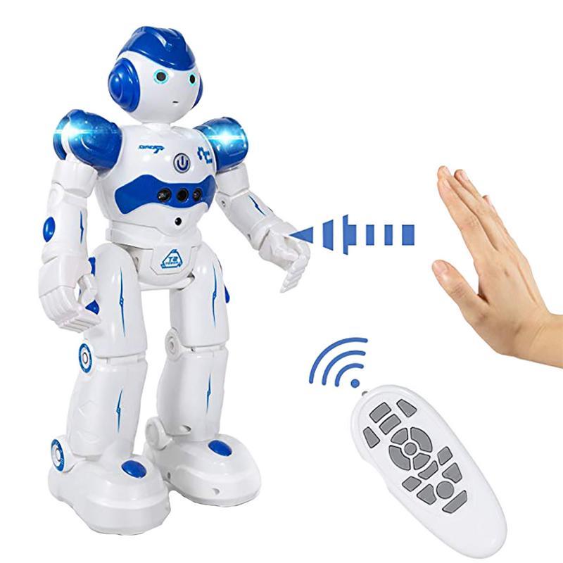 Интеллектуальный робот, многофункциональный, заряжающий, двигающийся, музыкальный, для танцев, для мальчиков, дистанционное управление, управление жестами, робот-игрушка для детей в подарок