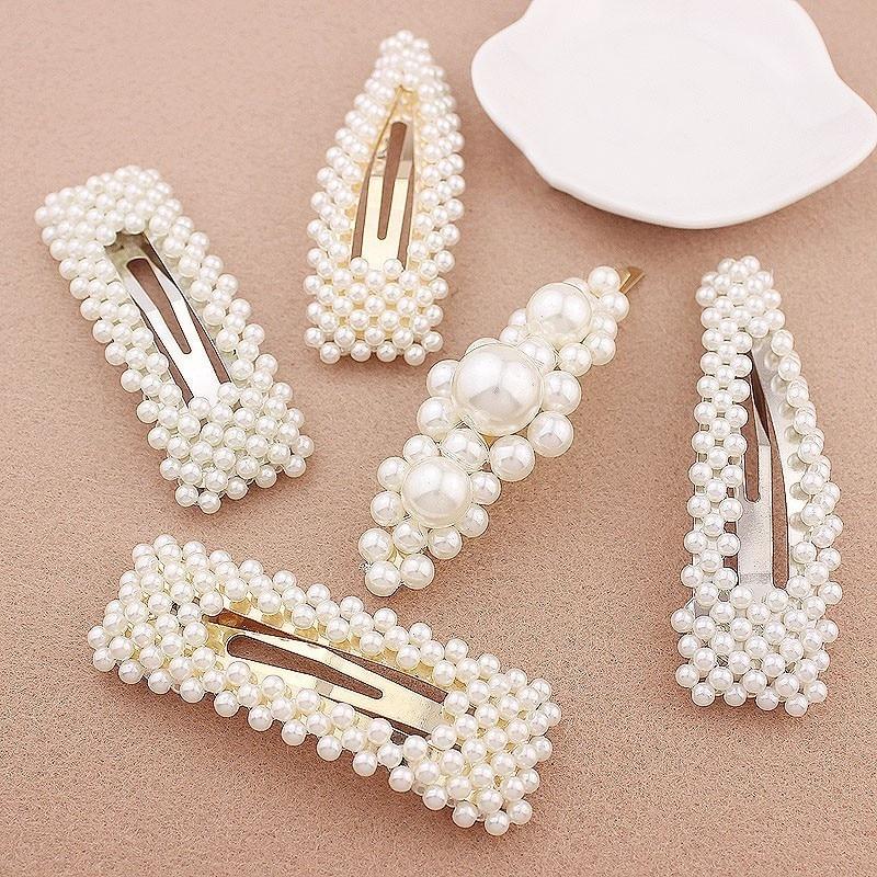 Simulated Pearl Hair Pin Barrette For Women Korean Jewelry Girl Headwear Gold Color Clip Hairpins Hair Accessories Hairgrip Women S Hair Accessories Aliexpress