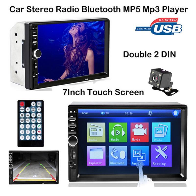 7 inch Dubbele 2 DIN Auto Bluetooth Stereo Radio Auto Dual Ingots MP5 Kaart Speler Auto MP5 MP3 Speler Bluetooth touch