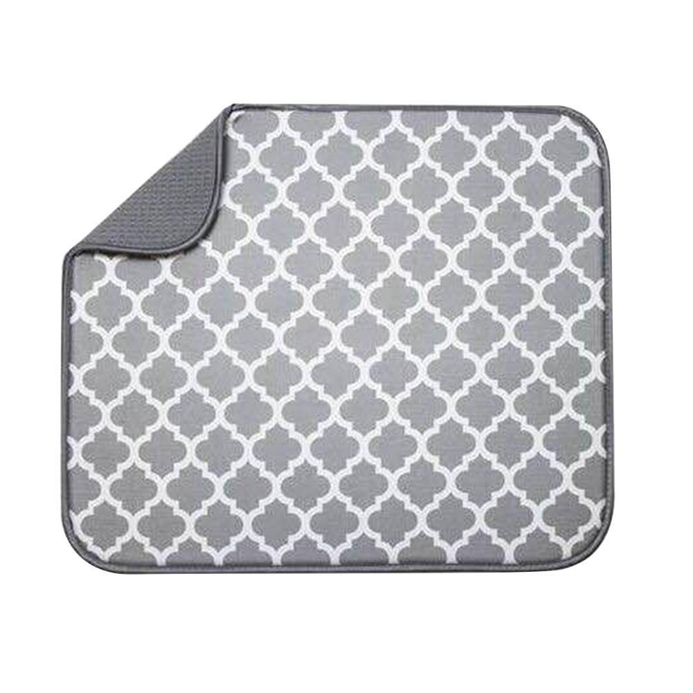 Adeeing superfino fibra esponja Plaid patrón estera de la taza de absorción de agua de decoración elegante