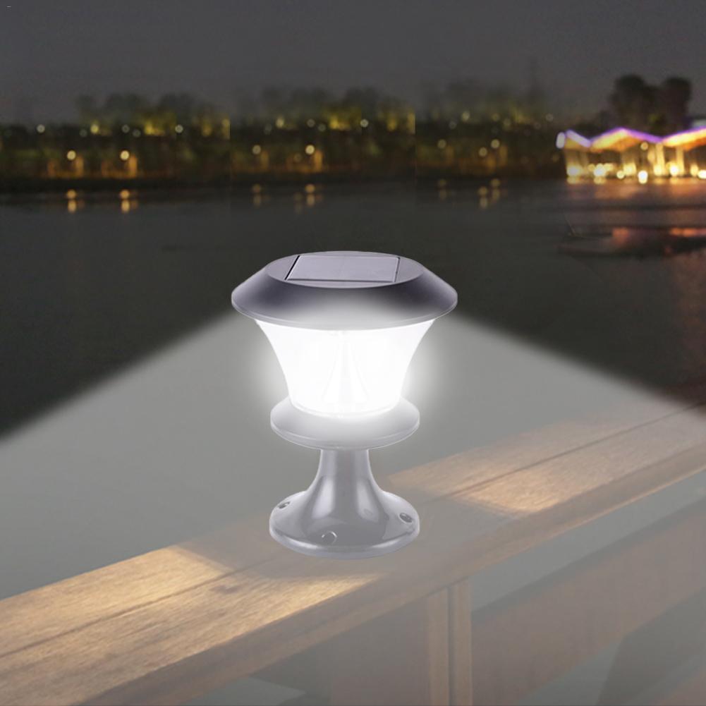 8 LED Solar Garden  Lamps  Outdoor Waterproof  Pillar  Landscape Lights  Park Decorative Lighting