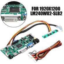LEORY LCD Controller Board HDMI DVI VGA Audio PC DIY Driver Board Converter Kit For 24 inch Display 1920x1200 LM240WU2-SLB2