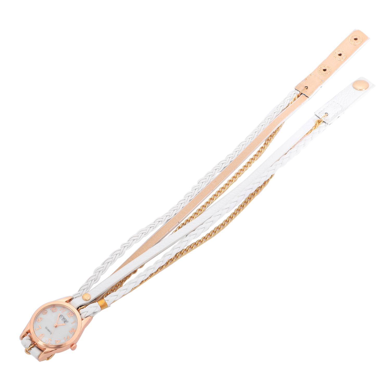 CCQ Chaîne De Mode En Cuir Bracelet Montre Femmes décontracté Montre-Bracelet Analogique Quartz Montre Horloge Heure 1071