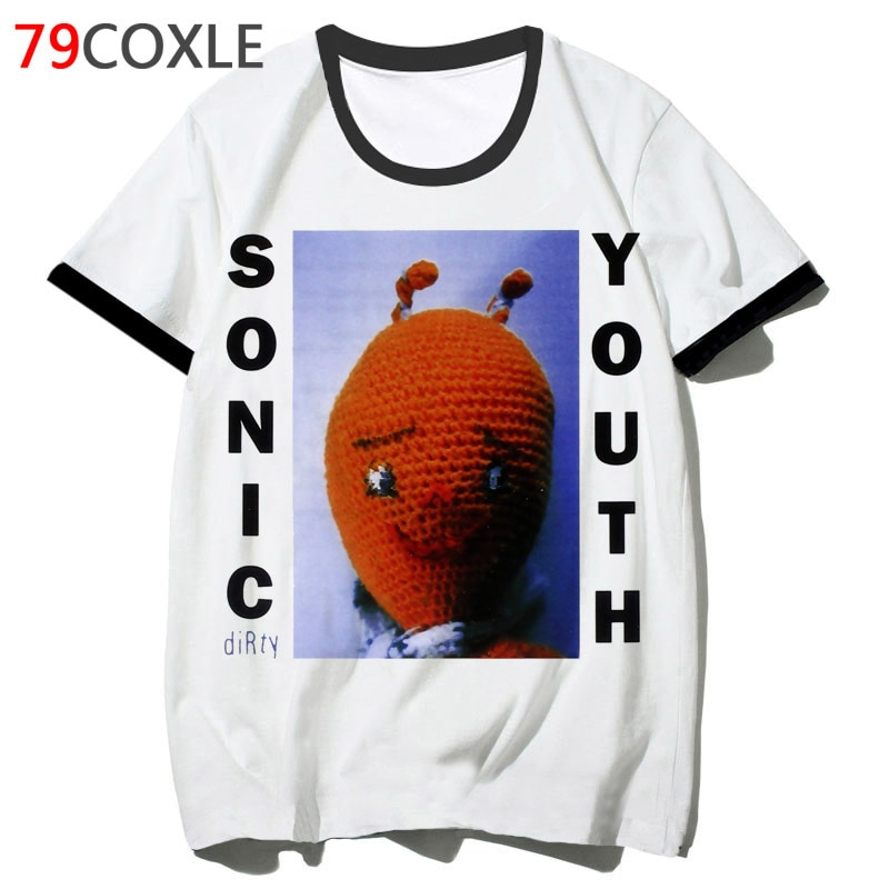 Футболка с принтом sonic youth, Мужская футболка в стиле Харадзюку, уличная футболка в стиле хип-хоп, 2019