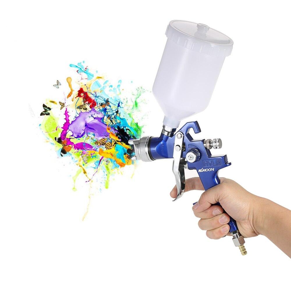 KKmoon Mini HVLP pistolet à Air retoucher peinture pulvérisateur 600ml gravité alimentation aérographe Auto voiture meubles manteau peinture outil de pulvérisation