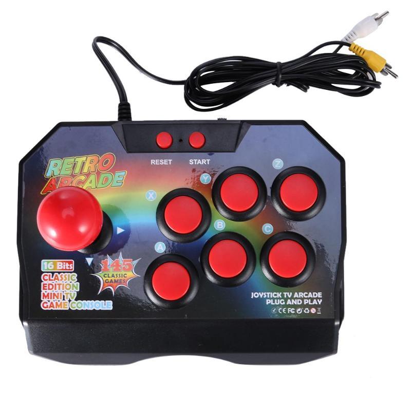Retro Joystick Game Controller For Arcade AV Plug Gamepad Console With Classic 145 Games For TV for CP1/CP2 Emulator