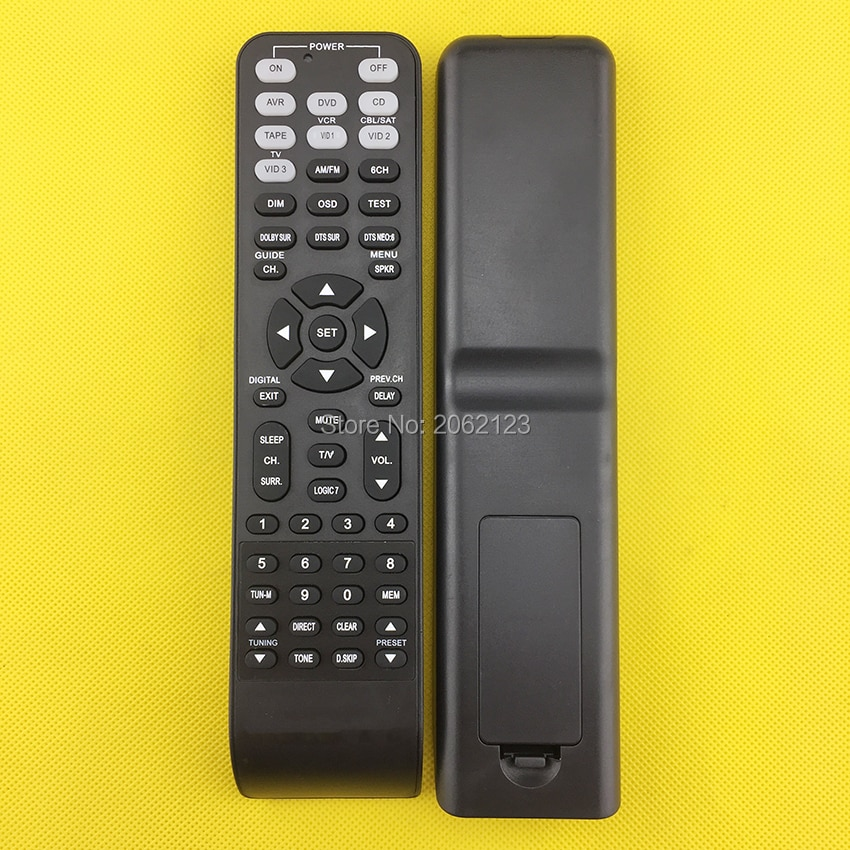 REPLACEMENT REMOTE CONTROL FOR AV RECEIVER HOME THEATER  AVR3550 AVR1600 AVR530 AVR245 AVR65 AVR140