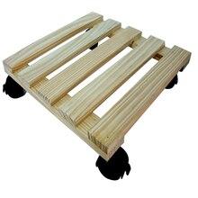 Cdw12 madera de cedro Caddy soporte de madera móvil de la flor, Base de la maceta de la flor del suelo, soporte móvil de la flor