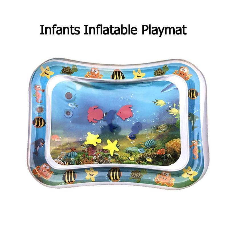 Esterilla de agua para bebés, esterilla creativa de doble uso para niños, colchoneta de juegos de agua para bebés, tapete de gimnasio de actividades, Alfombra de juegos de puzle para bebés