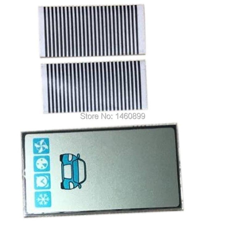 5 unids/lote A93 GSM pantalla lcd Cable Flexible ruso starline A93 cd llavero para mando a distancia de dos vías de sistema de alarma para coche