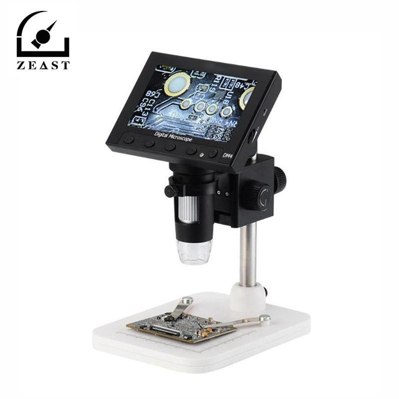 "Dm4 1000x2.0 mp usb microscópio eletrônico digital 4.3 ""display lcd vga microscópio com 8led e stent para pcb placa-mãe reparação"