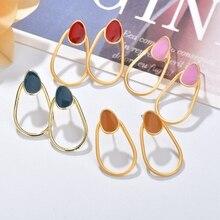 أقراط متدلية جديدة على الموضة الكورية من MESTILO لعام 2019 أقراط متدلية من الراتنج الملون بيضاوي الشكل غير منتظمة الشكل للبنات مجوهرات رائعة من Brinco