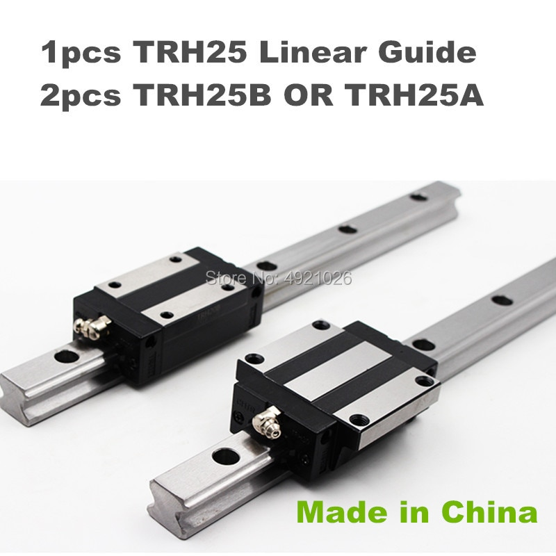عالية الجودة 25 مللي متر الدقة دليل خطي السكك الحديدية 1 قطعة TRH25 1100 إلى 1500 مللي متر + 2 قطعة TRH25B أو TRH25A مربع الخطي كتلة ل Xyz محور