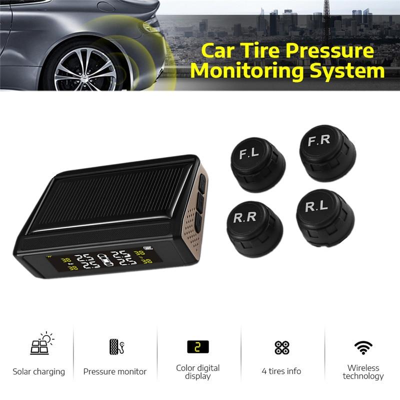 USB Android TPMS coche TPMS Solar Sistema de control de presión de neumáticos pantalla LCD Digital de sistemas de alarma de seguridad de coche