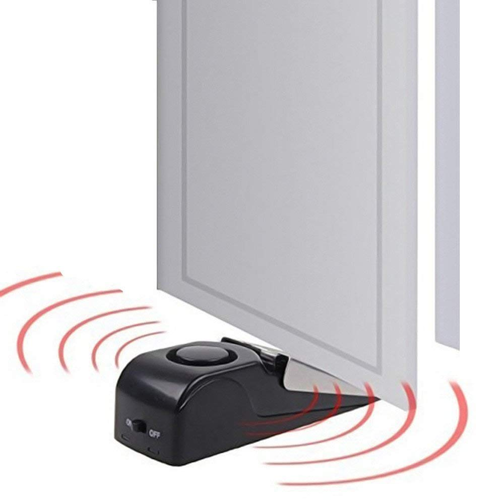 120 дБ Мини Беспроводная вибрационная сигнализация, дверной стоп-сигнал для дома, клиновидная образная пробка, оповещение, система безопасности, блокирующая система