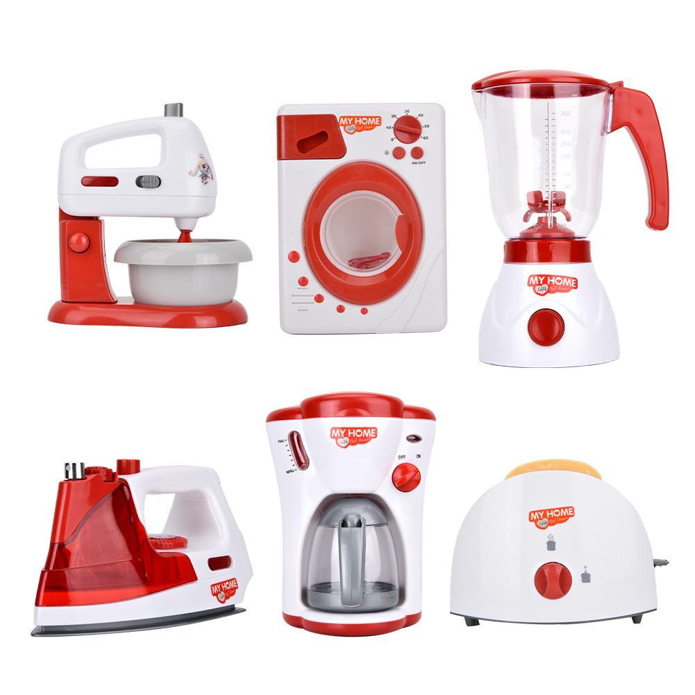 Electrodomésticos de juguete máquina de café juego de simulación cocina niños juguetes tostadora licuadora aspiradora cocina de juguete para chico