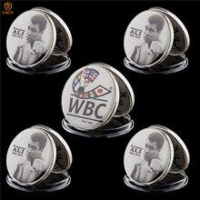 5 pçs/lote americano famoso campeão de boxe muhammad ali wbc boxe token celebridade mint condição token moeda comemorativa