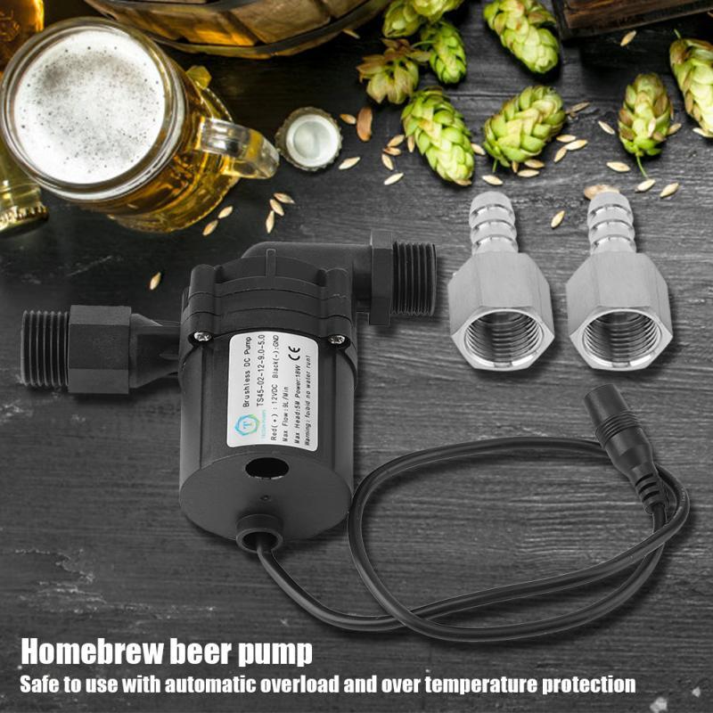 Fabricação de cerveja bomba de circulação dc 12 v 18 w sem escova bombas de cerveja bomba de acionamento magnético casa brew