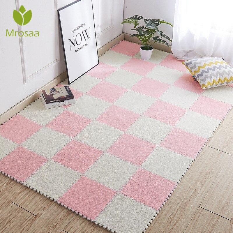 Gran oferta, alfombra suave de 30x30 cm para sala de estar, dormitorio, niños, niños, rompecabezas mágico de retales, alfombrilla de escalada para bebés, 1 Uds.