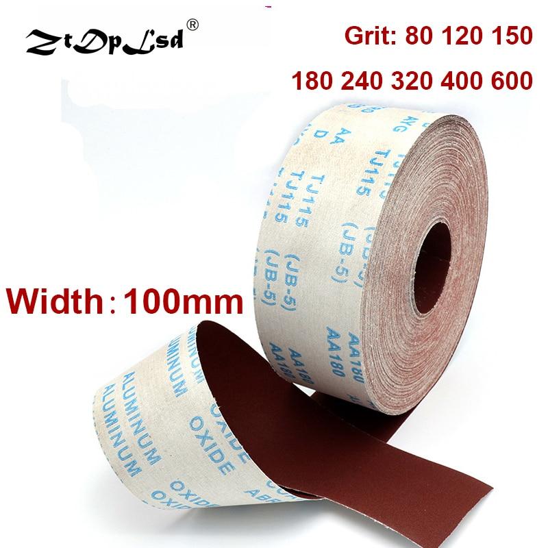 1 metro 80-600 carta abrasiva per lucidatura in rotolo di tela - Utensili abrasivi - Fotografia 2