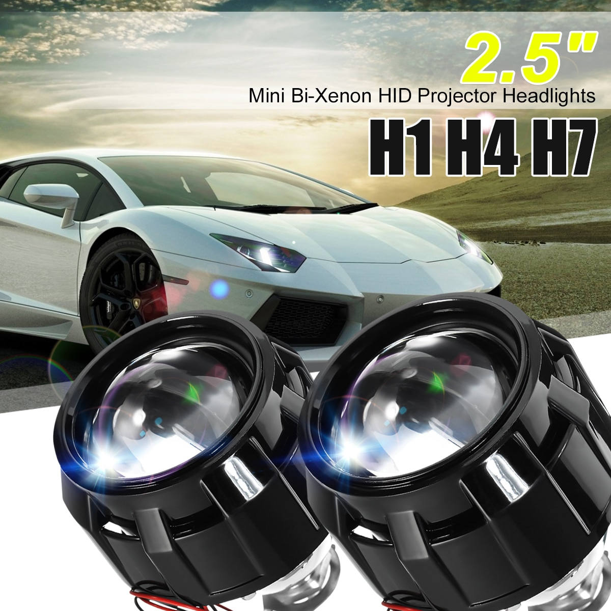 2,5 дюйма мини WST для HID Bi-xenon объектив проектора + кожухи LHD RHD для авто ангельские глазные фары H1 H4 H7