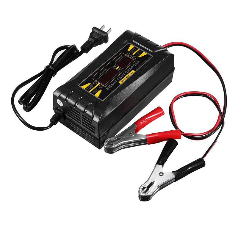 Son-1210D + Lcd rápido inteligente cargador de batería de plomo-ácido 12 V 10A para el enchufe de los EEUU de la motocicleta del coche