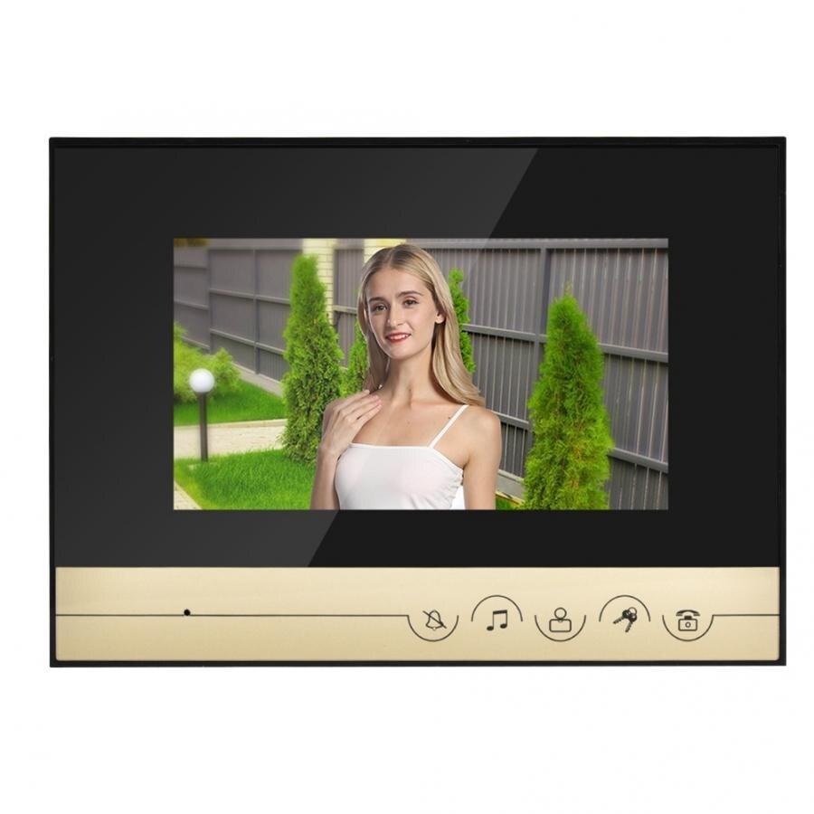 Sonnette caméra Mirilla numérique 7 pouces   Bouton tactile LCD couleur, porte-téléphone vidéo, sonnette système dentrée interphone, sonnette intelligente