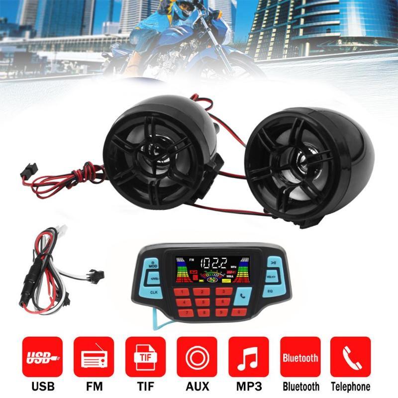 Аудиосистема на руль мотоцикла с mp3-колонками, USB, TF, Bluetooth, FM-радио, встроенный микрофон, автомобильные аксессуары