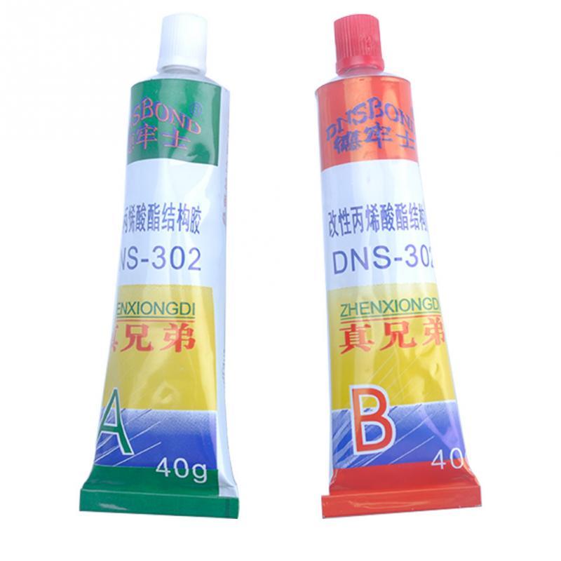 Pegamento AB A + B pegamento epoxi total 40ml goma metal pegamento universal resina Super metal PVC ABS azulejo de cerámica pegamento madera