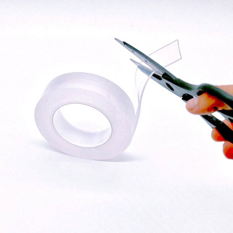 1pcs 3.3ft/16.4ft Transparent Double Sided Tape, Washable Transparent Nano Gel Pad Anti Slip Multifunction Non-Slip Sticker
