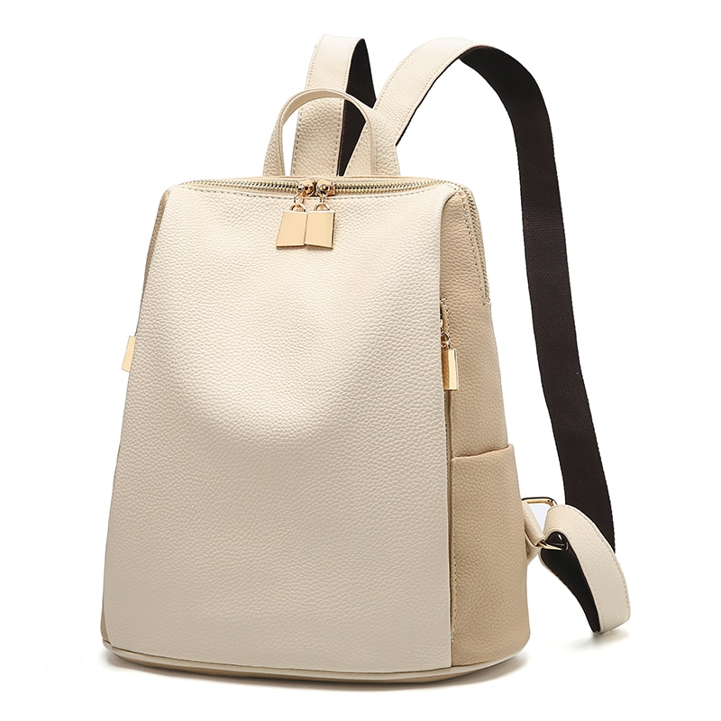 Women Backpack for School Style Leather Bag For College Simple Design Women Casual Daypacks mochila