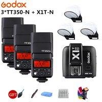 Godox TT350 TT350N Camera Flash 2.4G HSS 1/8000s i-TTL GN36 Speedlite + X1T-N Trigger Transmitter for Nikon SLR digital camera