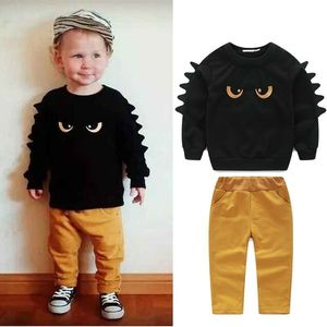 Pudcoco Boy Set 12M-5Y 2pc Monster Baby Boy Toddler Outfit Long Sleeve Pullover Top+Pants Clothes Sets