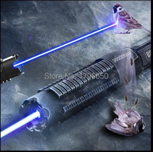 Los más potentes punteros láser azules de alta potencia de 100000mw 100W 450nm linterna encendedor de velas para encendedor de cigarrillos, antorcha LAZER malvada