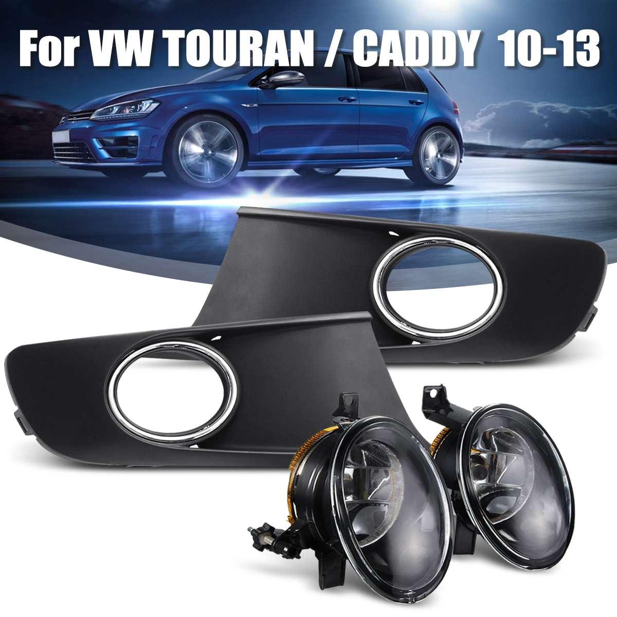 Luz de coche para VW TOURAN CADDY 2010 2011 2012 2013 luz antiniebla cubierta y arnés 1T0853665 1T0853666