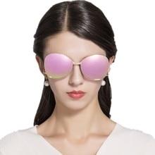 High Quality Rose Pink Mirror Sunglasses Women New Brand Designer polarized Sunglasses Contort Leg Sun Glasses Oversize Oculos