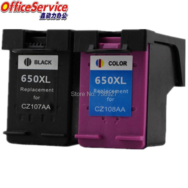 Cartucho de Tinta Compatível Para HP650XL 650XL, para Deskjet 2515 2545 2645 3515 4645 3545 1015 1515 3540 4518 impressora jato de tinta