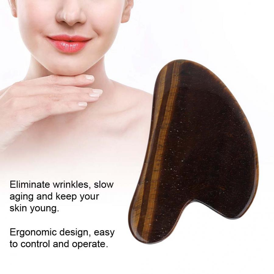 Rodillo Natural Jade desguace placa cuerpo Guasha tabla masajeador facial herramienta de cuidado de la salud instrumento de masaje