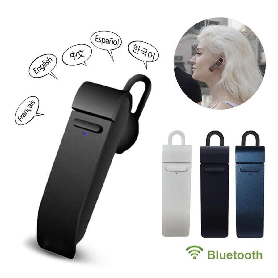BEESCLOVER Peiko traducción en tiempo Real auricular Bluetooth auriculares de negocios inalámbricos 25 idiomas Bluetooth 4,2 auriculares d35