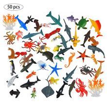 Jouet modèle Animal marin, Simulation danimaux marins, figurines animaux marins, 50pcs