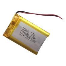 3.7V 1000 mAh Ai Polimeri di Litio Batteria Ricaricabile Li-Ion 503450 543450 523450 per Smart Phone DVD MP3 MP4 Led lampada